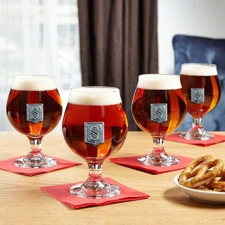 Regal Crested Beer Snifter Glasses, Set of 4
