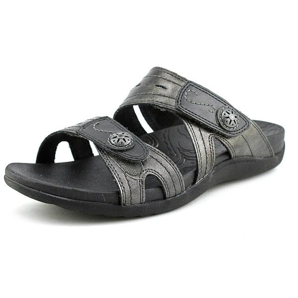 Cobb Hill Renee Women Open Toe Synthetic Gray Slides Sandal