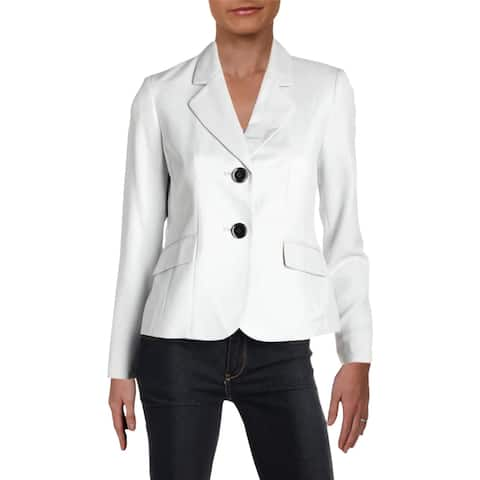 Le Suit Womens Petites Two-Button Blazer Fitted Office