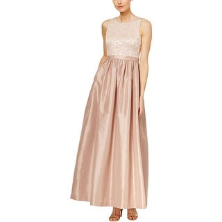 Calvin Klein Womens Formal Dress Embroidered Soutache