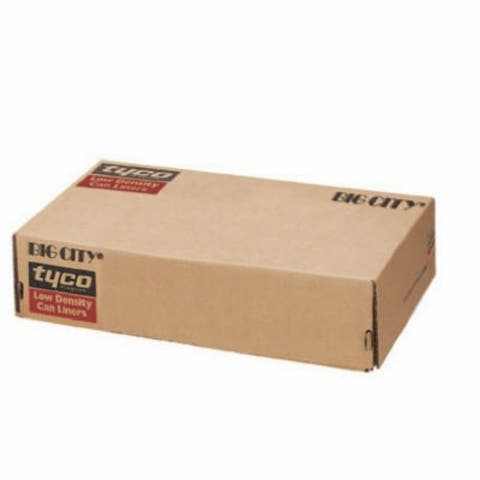 "Berry Plastics 623896 Big City LLDPE Drum Liner, Black, 38""x63"", 50-Count"