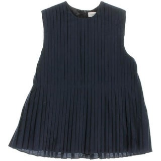 Victoria Beckham Jeans Girls Pleated Sleeveless Casual Dress