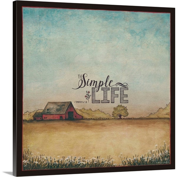 """""""The Simple Life"""" Canvas Wall Art"""