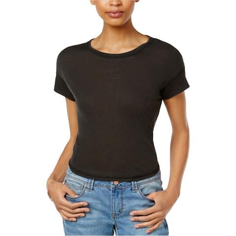 Rachel Roy Womens Cut Out Basic T-Shirt
