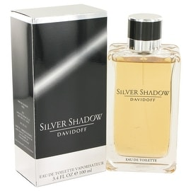Silver Shadow by Davidoff Eau De Toilette Spray 3.4 oz - Men