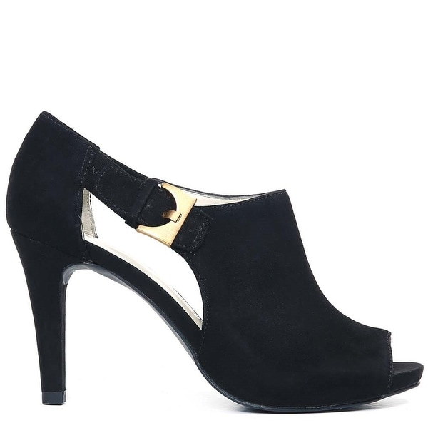 Nine West Womens AKOLITA Suede Open Toe Mary Jane Pumps