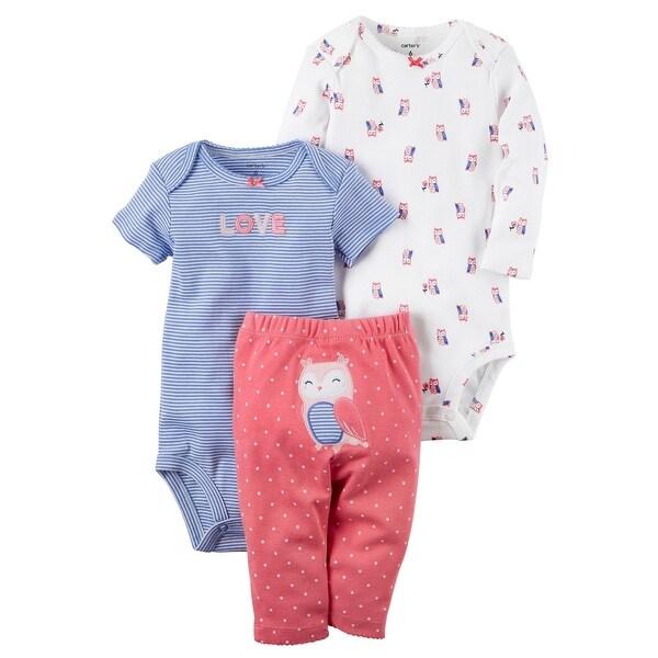 b9fe96781c30a Carter's Baby Girls' 3-Piece Little Character Set, 3 Months - 3 Months