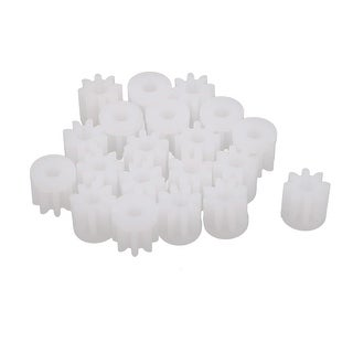 20pcs 18 Teeth 2mm Hole Diameter Plastic Gear Wheel White DIY Model Accessory