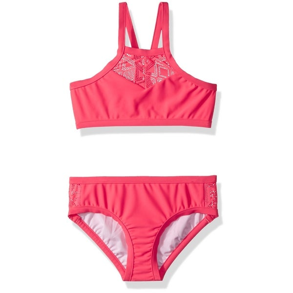 0ffe777ac40fd Shop Seafolly Hot Pink Girl's Size 16 Bikini Set Lace Solid Swimwear - On  Sale - Free Shipping On Orders Over $45 - Overstock - 27065304