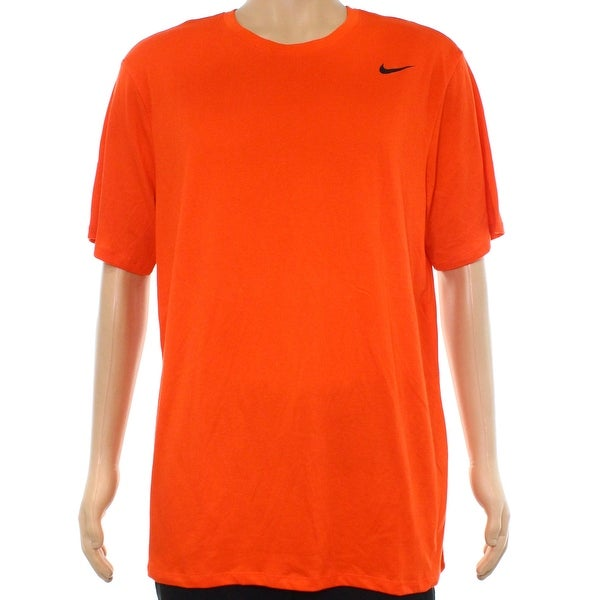 caa63ad7 Shop Nike Orange Mens Size XL Crewneck Short-Sleeve Dri-Fit Tee T-Shirt 164  - Free Shipping On Orders Over $45 - Overstock - 22110639