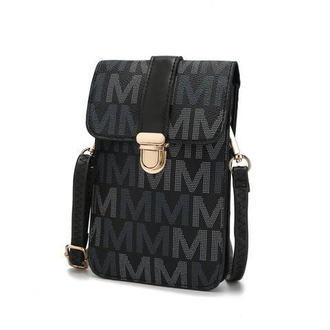 MKF Collection Lulu XL M Signature Phone Wallet Crossbody Bag by Mia K.