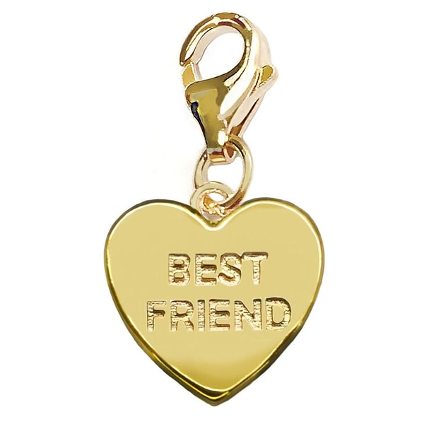 Julieta Jewelry 'Best Friends' Heart Plate Clip-On Charm
