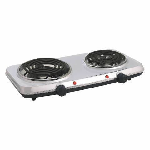 Stainless Steel 1440W Electric Double Burner