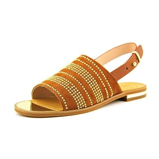French Connection Happy Open-Toe Leather Slingback Sandal