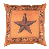 "20"" Outdoor Deck and Patio Country Rustic Lonestar Square Throw Pillow - Brown"
