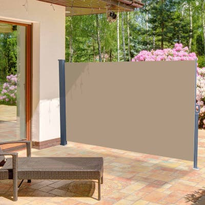 """118"""" x 71"""" Outdoor Patio Single Side Awning Privacy Screen Pull Out Shed"""