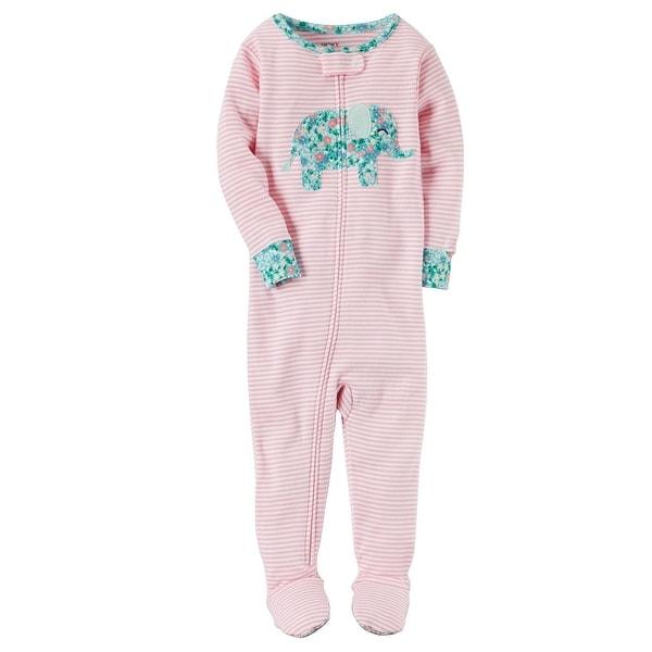 6926ba85e2de Shop Carter s Little Girls  1-Piece Elephant Snug Fit Cotton Pajamas ...