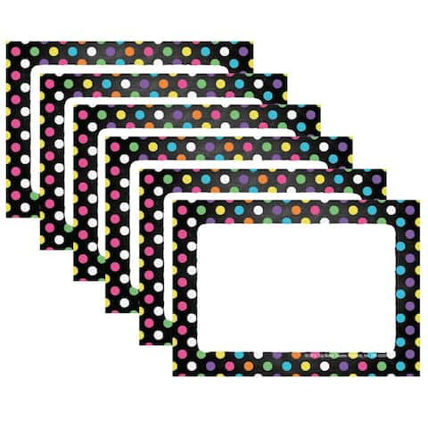 Chalkboard Dots Name Tags/Labels, 32 Per Pack, 6 Packs - One Size