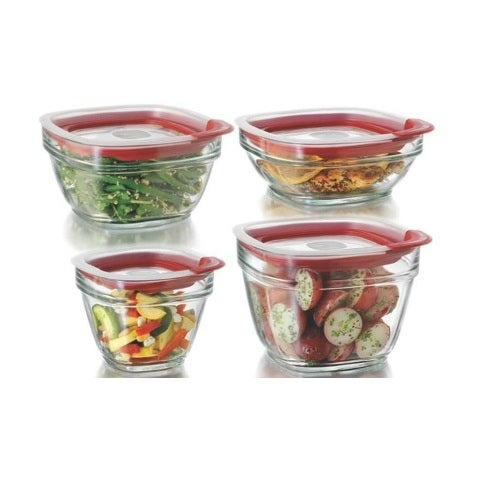Rubbermaid 2856008 Easy Find Lid Food Storage Container Set, 8 Piece
