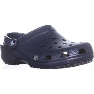 Crocs Unisex Classic Clog Slingback Flats, Navy - 8 us