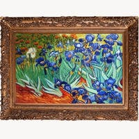 Irises by Vincent Van Gogh Framed Hand Painted Oil on Canvas