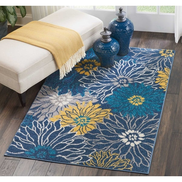 Nourison Passion Abstract Modern Floral Area Rug. Opens flyout.