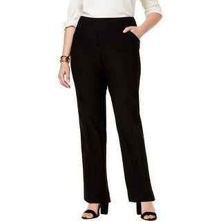 NY Collection Womens Plus Pants Petite/Plus Pull On