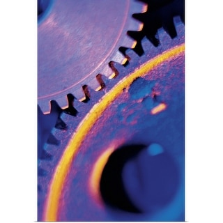 """""""Close up of gears"""" Poster Print"""