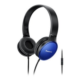 Panasonic RP-HF300M-A On Ear Headphones With Integrated Mic And Controller, Blue