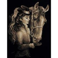 """Amazon Counted Cross Stitch Kit-11.75""""X15.75"""" 14 Count"""