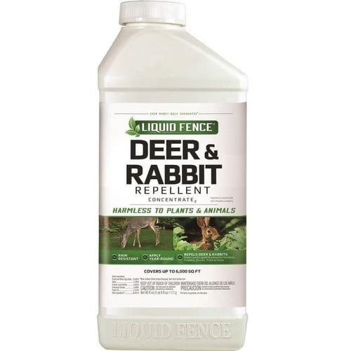 Liquid Fence HG-71136 Deer & Rabbit Repellent Concentrate, 40 Oz