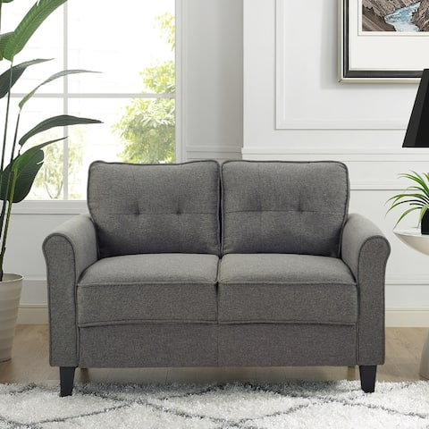 iLounge Hailey Loveseat with Rolled Arms