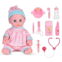 HK Alive Realistic Baby Doll w/ Outfits Sound Great Dreams Gift Set Soft Washable Pink