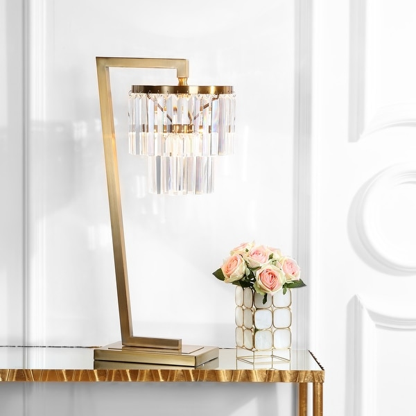 "Safavieh Lighting 30-inch Callum LED Table Lamp - 14.5""x10.5""x30"". Opens flyout."