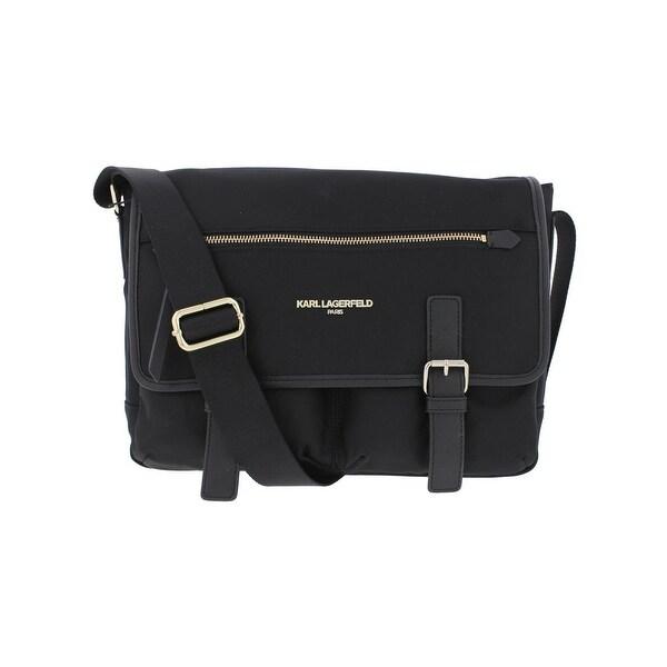 777b796b707 Karl Lagerfeld Womens Cara Messenger Handbag Flap Crossbody - Medium