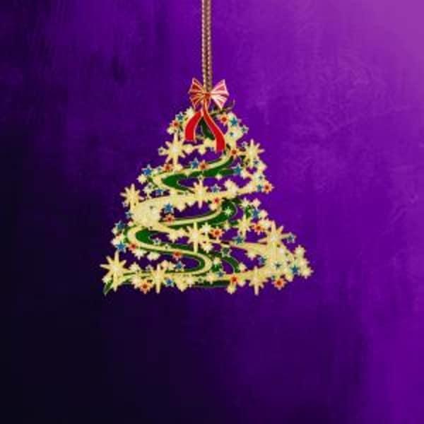 "2.5"" Collectible Keepsakes Contemporary Christmas Tree Christmas Ornament - multi"