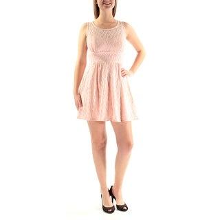 Womens Pink Sleeveless Mini Empire Waist Dress Size: 9