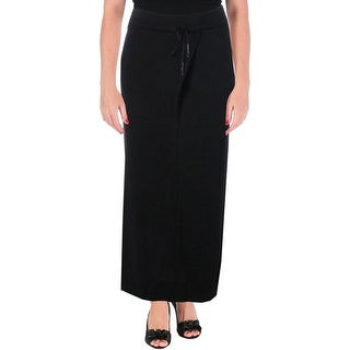 Pure DKNY Womens Maxi Skirt Ribbed Trim Drawstring (2 options available)