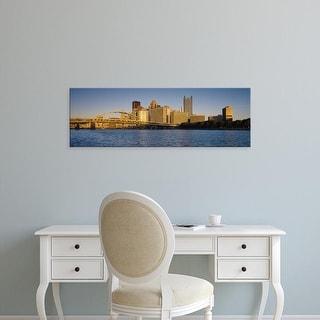 Easy Art Prints Panoramic Images's 'Pittsburgh, Pennsylvania, USA' Premium Canvas Art