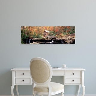Easy Art Prints Panoramic Image 'mill in forest, Glade Creek Grist Mill, Babcock State Park, West Virginia' Canvas Art