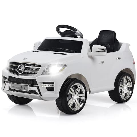 Costway Mercedes Benz Ml350 6v Electric Kids Ride On Car Licensed Mp3 Rc Remote Control