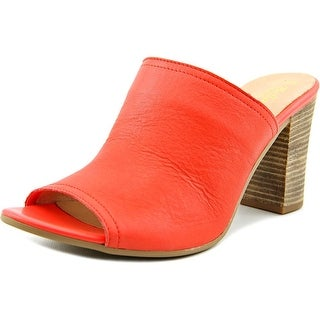 Bella Vita Arno Women WW Open-Toe Leather Orange Mules