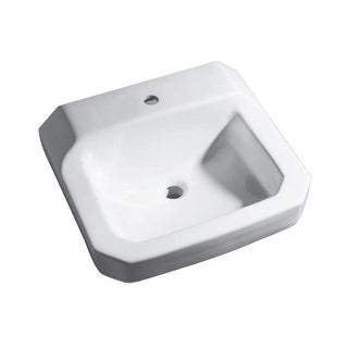 """PROFLO PF5411 19"""" Wall Mounted Bathroom Sink with 1 Hole Drilled - White - N/A"""