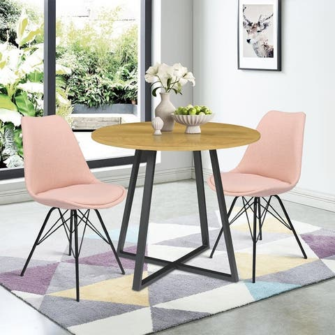 3-piece dining table set modern wood kitchen set