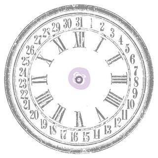 "Iron Orchid Designs Decor Transfer Rub-Ons-Clock, 36"""