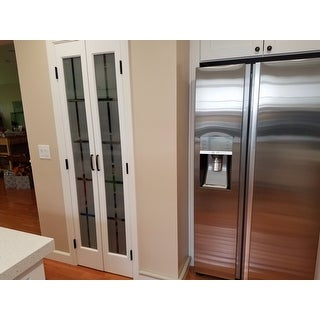 American Wood Mission Frosted Bi Fold Door ...