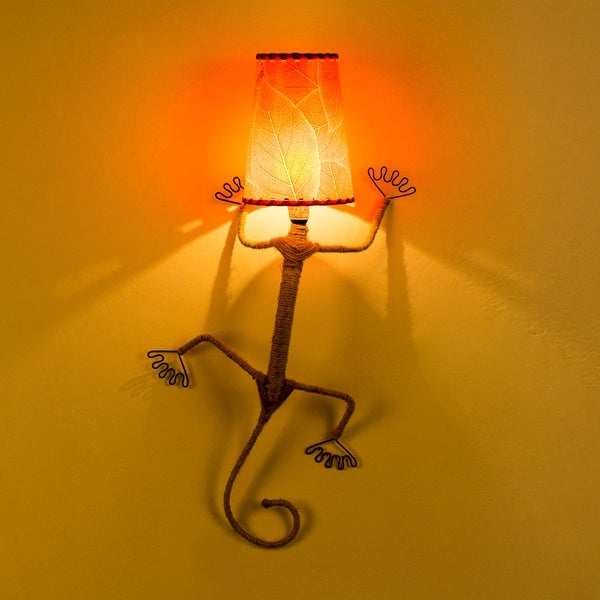 "Kanstar 25"" Metal Wire Lizard Finish Night Lamp Night Lights"