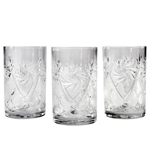 Neman Glassworks Mill Cut High-End Crystal Drinking Glass