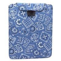 JAVOedge Bandana Flex Sleeve Case for Apple New iPad / iPad 2 (Blue)