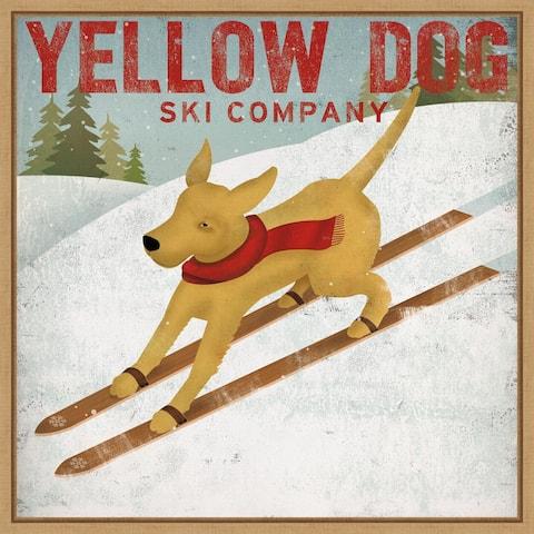 Yellow Dog Ski Co by Ryan Fowler Framed Canvas Art